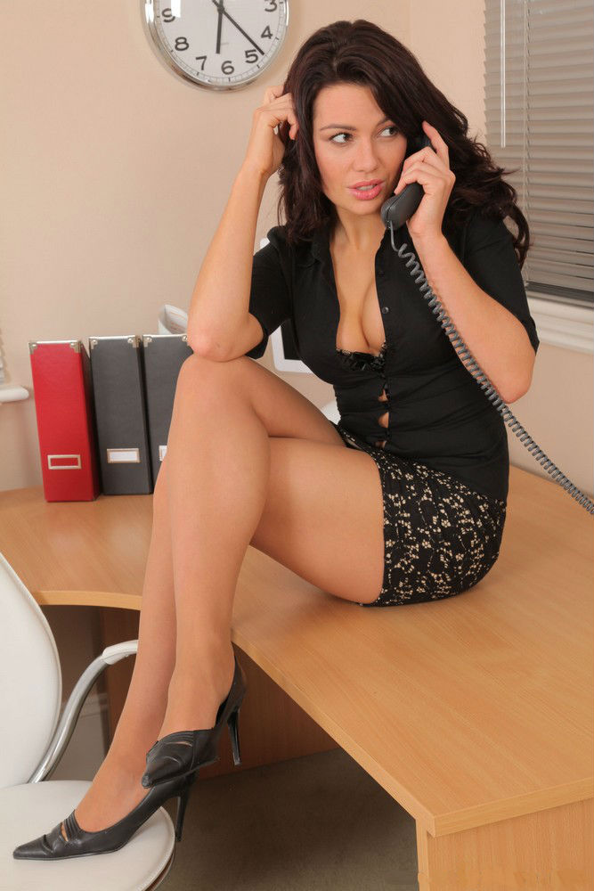 Hot and sexy secretary