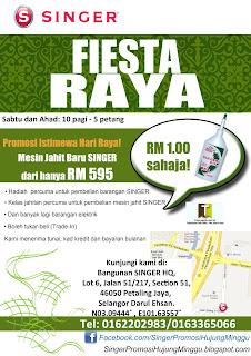 SINGER Fiesta Raya Special Promotion 2012