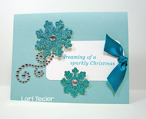 Dreaming of a Sparkly Christmas card-designed by Lori Tecler/Inking Aloud-stamps and dies from Clear and Simple Stamps