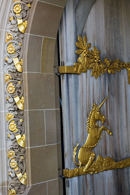 All That Glitters Can Be Gold - detail from Queens Gallery arch, Edinburgh
