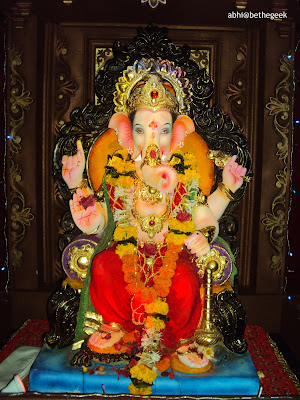 A Ganpati pandal in Andheri, Mumbai during Ganesh Chaturthi festival