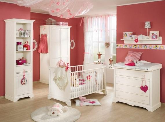 Muebles elegantes para el dormitorio del bebé