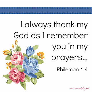 www.created2fly.net: Philemon 1:4