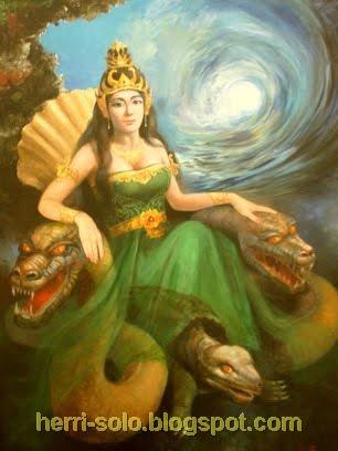 Gambar Lukisan Nyi Roro Kidul Dan Nyi Blorong