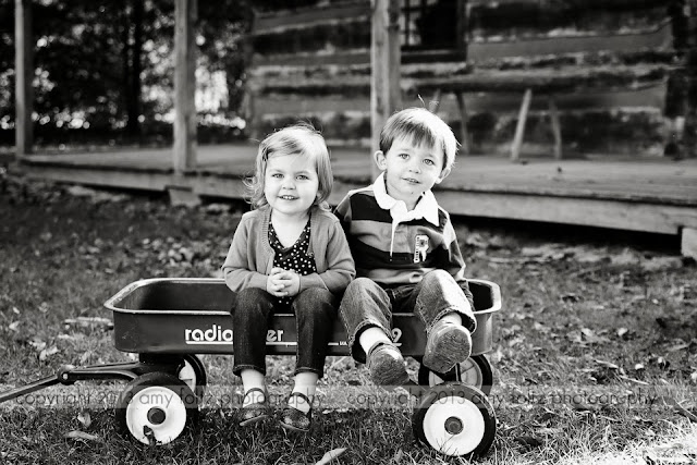 black and white photo of twins at Fowler Park - Terre Haute, IN