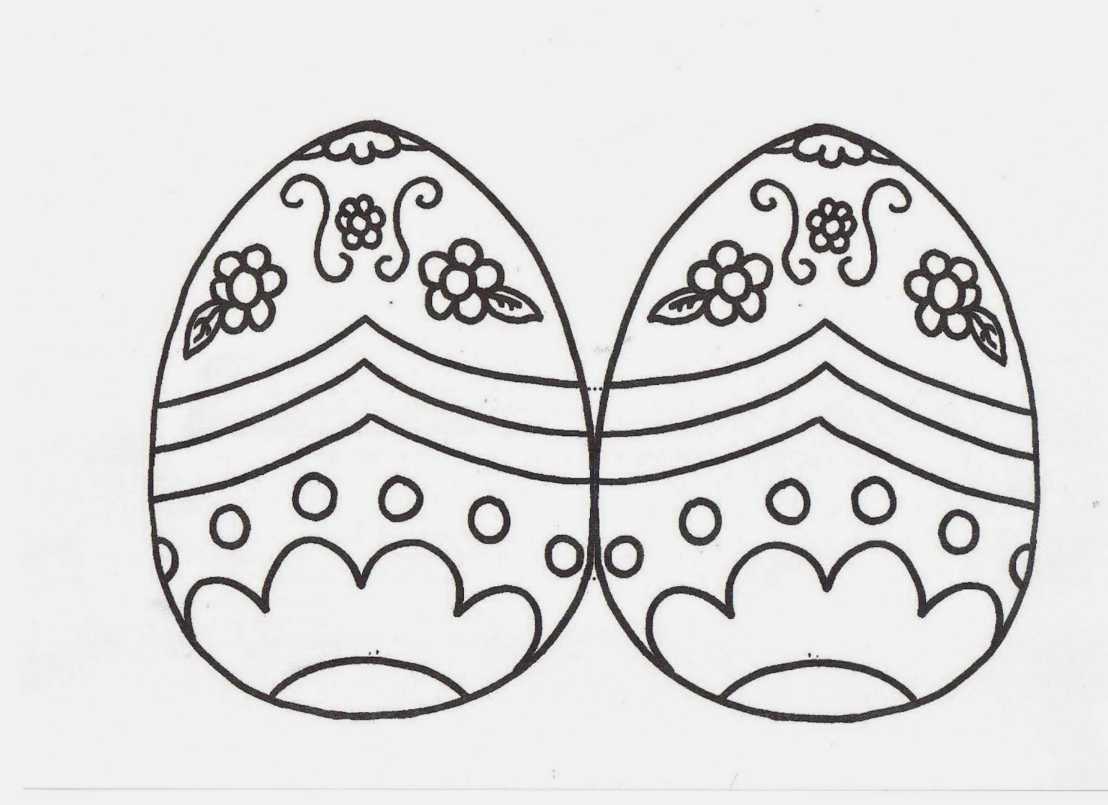 Encantador Pequeños Huevos De Pascua Para Colorear Festooning ...
