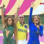 JLo, Pitbull at 2014 World Cup