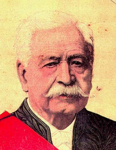 Retrato de Fernando de Lesseps el hombre que comenzó los trabajos del Canal de Panamá