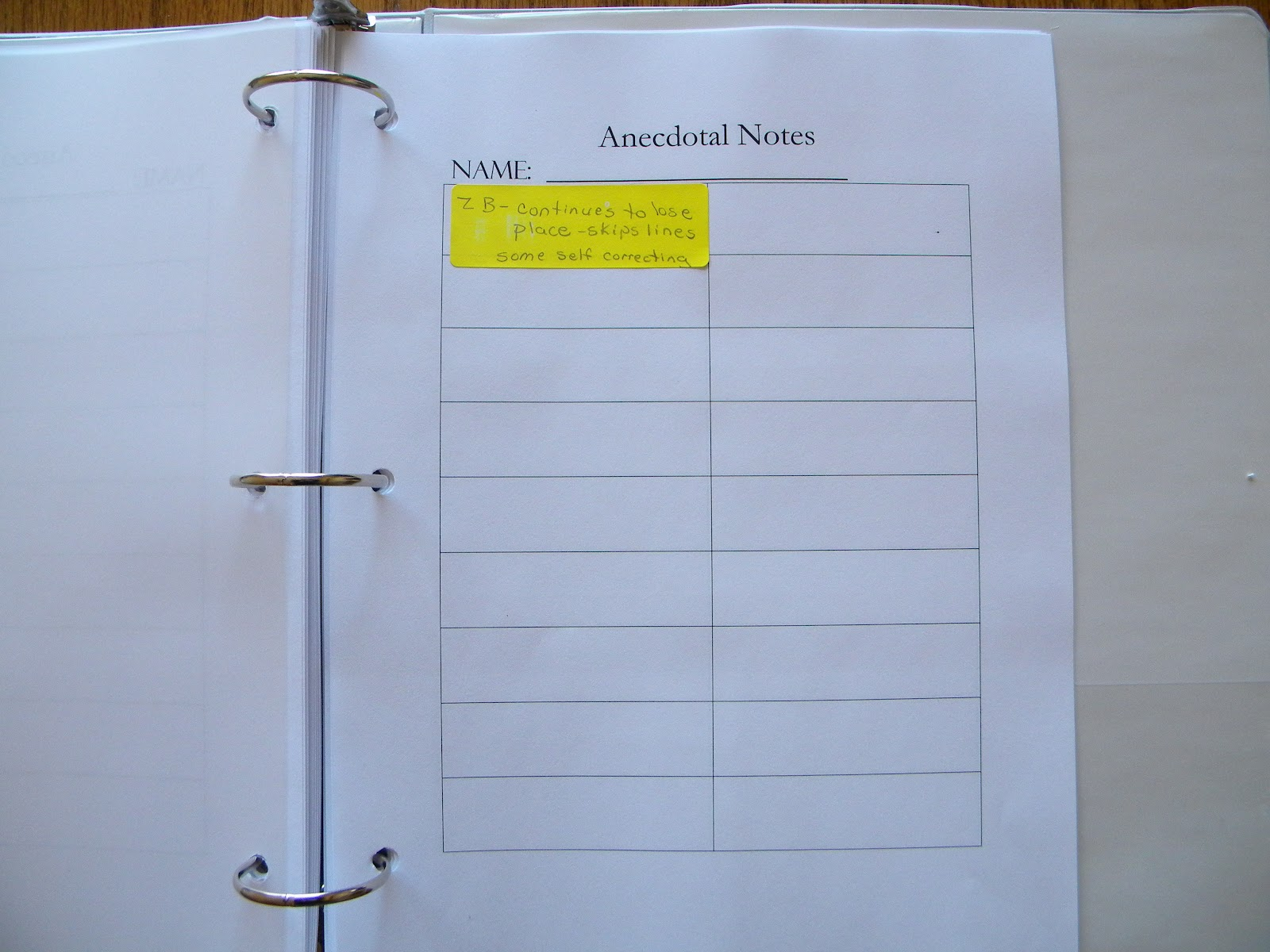 anecdotal notes Anecdotal records ncqtl this document  use these steps to collect  anecdotal records • plan ahead  notes, paper, or an activity matrix choose the.