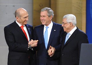 Olmert, Bush and Abbas