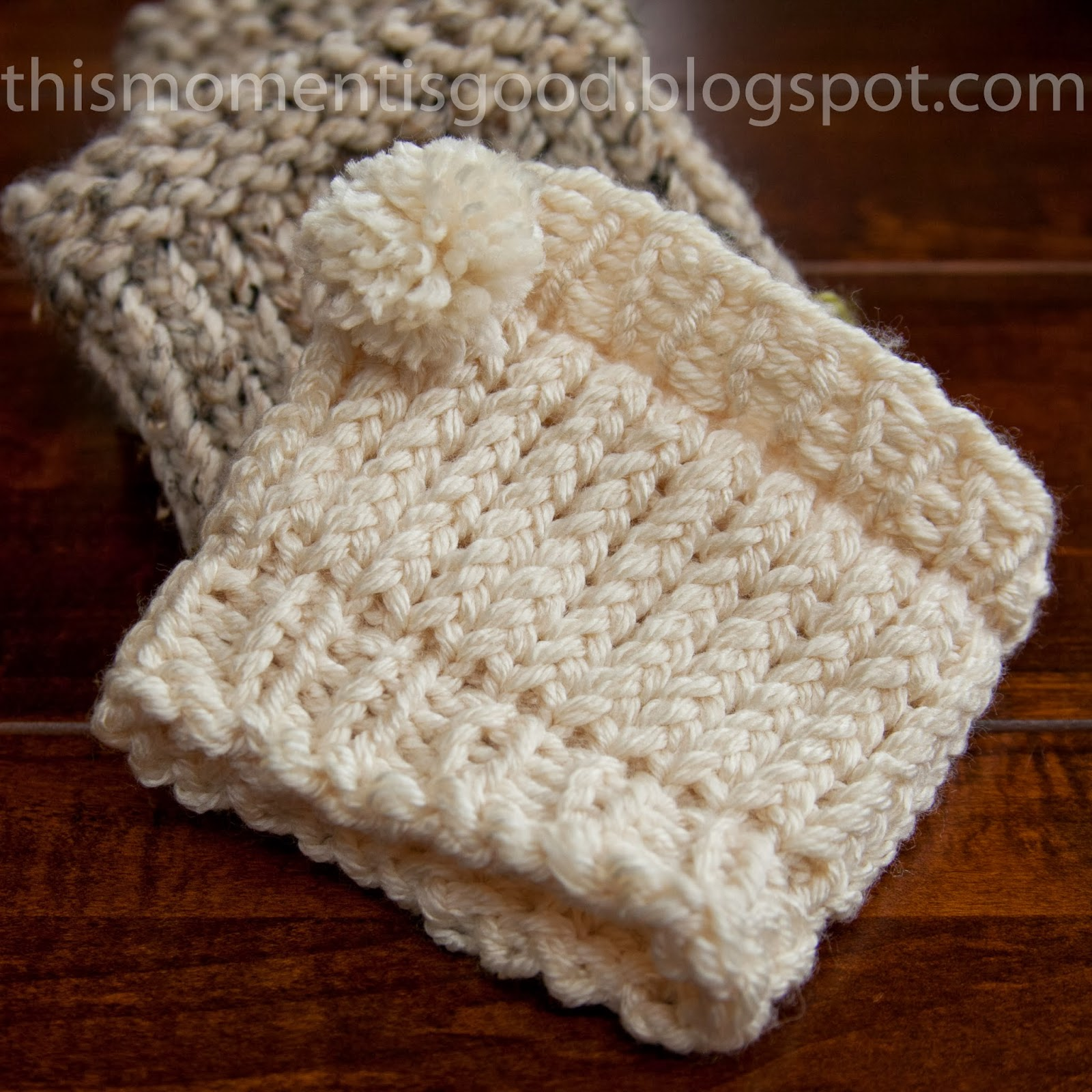 Free Easy Knit Boot Cuff Pattern : Loom Knitting by This Moment is Good!: LOOM KNIT BOOT CUFF