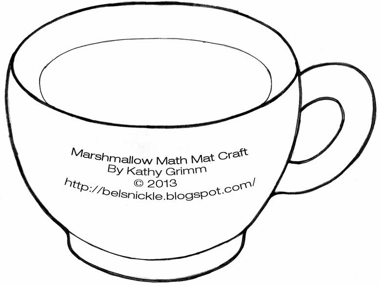 Hot Chocolate Mug Template Above is a template, mug for