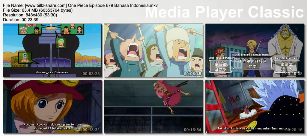 One Piece Episode 679 (Kemunculan yang Bersinar! Kepala Staf Pasukan Revolusi, Sabo!) Bahasa Indonesia