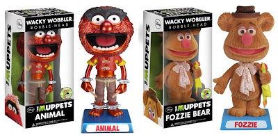 San Diego Comic-Con 2013 Exclusive The Muppets Wacky Wobbler Bobble Heads by Funko - Metallic Animal & Flocked Fozzie Bear