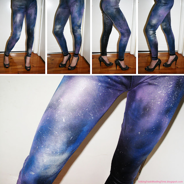 DIY Galaxy leggings tights tutorial finished print design