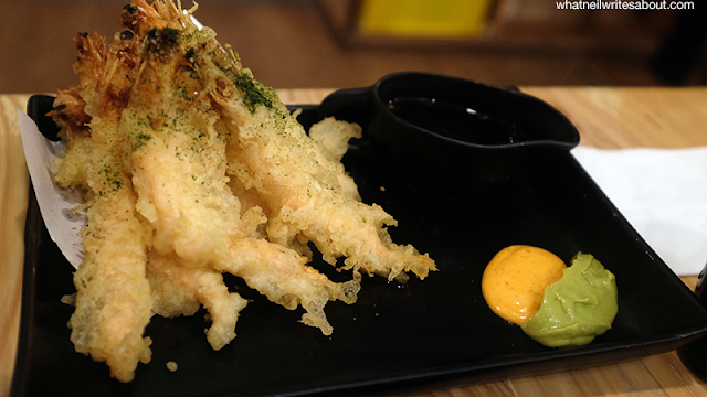 Neil Writes About Ooma Japanese Rice Bar Ebi Tempura