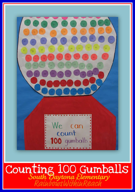 photo of: 100 Day Bulletin Board of 100 Gumballs (via 100 Day RoundUP at RainbowsWithinReach) 