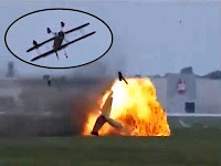 Wing walker crashes at ohio air show plane with wing walker crashes