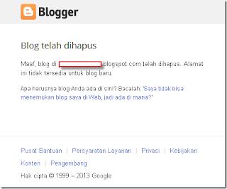 Mengapa Google Menghapus Blog Kesayangan Saya