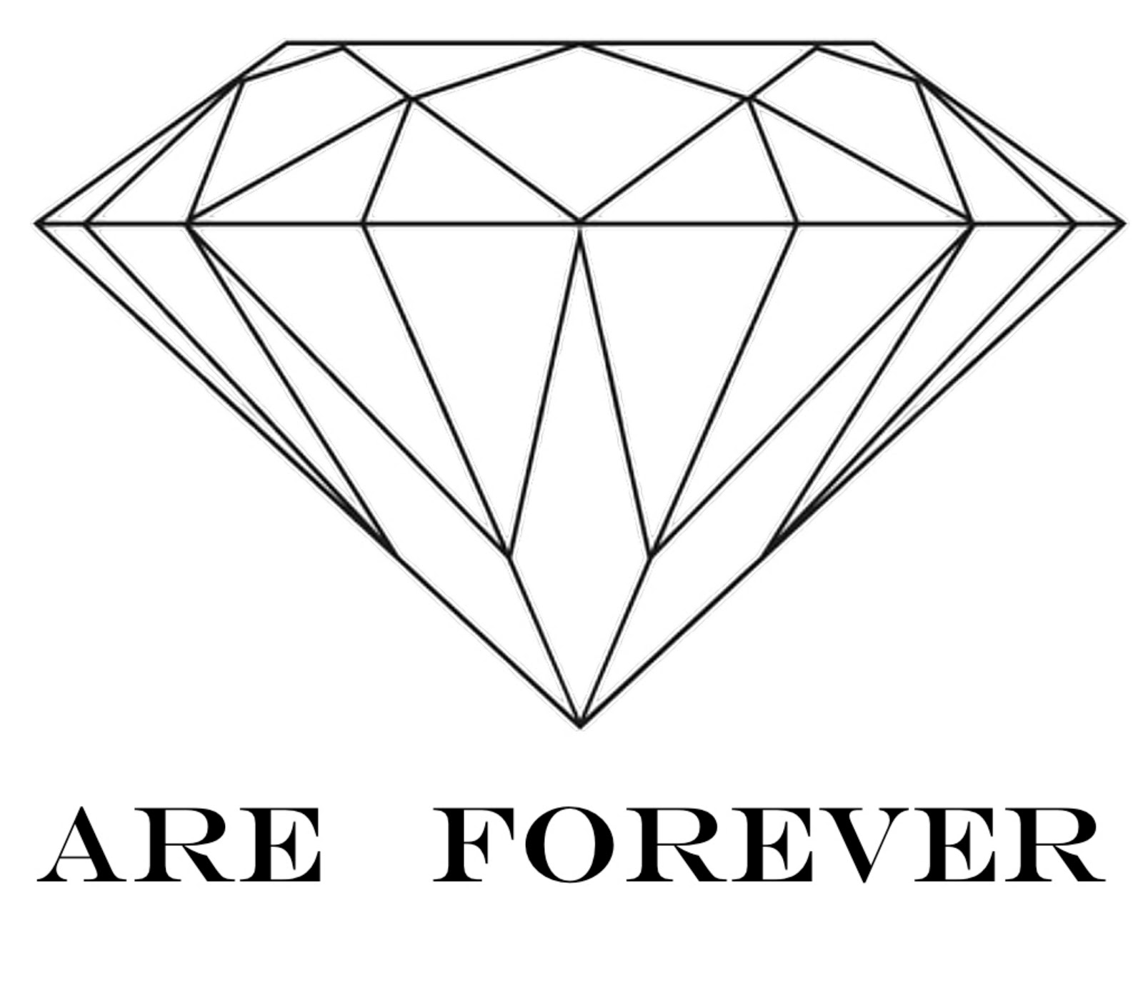 Line Drawing Diamond : Diamonds are forever the diamond school this is annastasja