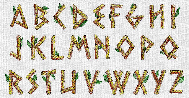 Bamboo Lettering2