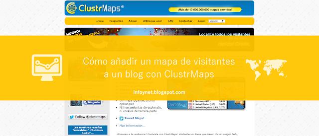 Cómo añadir un mapa de visitantes a un blog con ClustrMaps