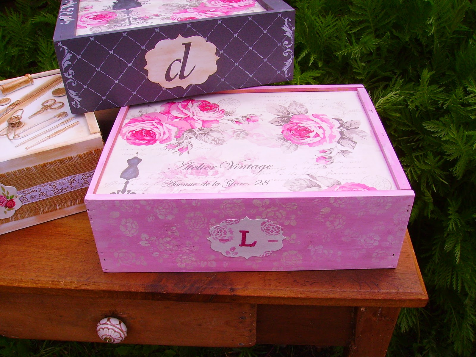 Retazos de madera cajas de vino - Cajas de vino de madera decoradas ...