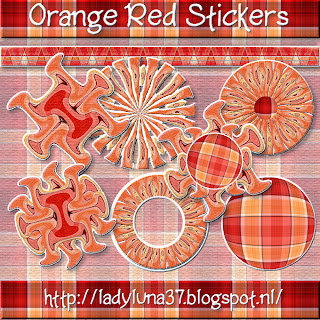 Freebie: Orange and Red Scrap Elements - Stickers