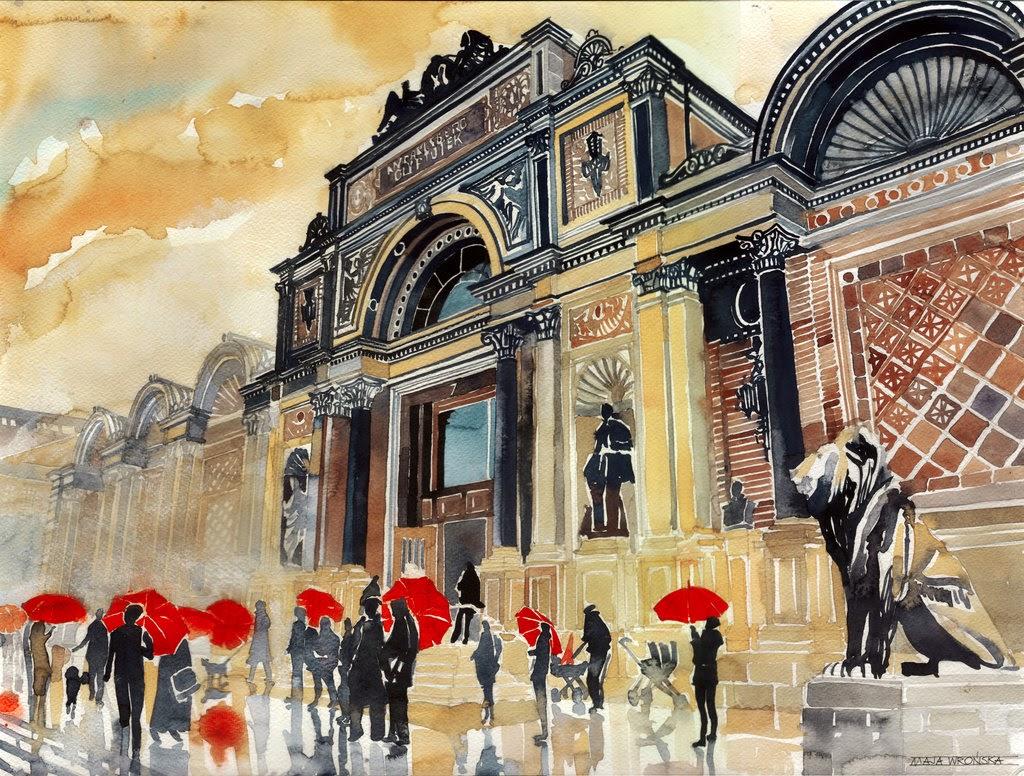 11-Glyptotek-Maja-Wronska-Travels-Architecture-Paintings-www-designstack-co