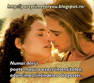 Numai dorul poate masura exact intensitatea, adâncimea, întinderea dragostei...