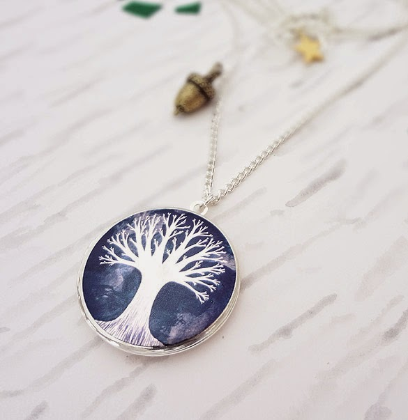 From Small Seeds Locket in Silver - Bonbi Forest - 25% Off Easter Sale