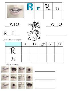 Atividades Alfabetização - Método Fônico R