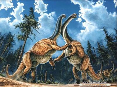 dinosaurios peleando
