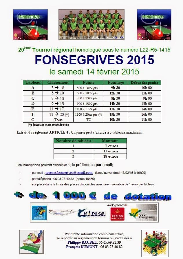 Tennis de table prayssac d cembre 2014 - Ligue aquitaine tennis de table ...