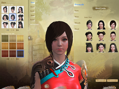 ArcheAge - Character Creation Hair