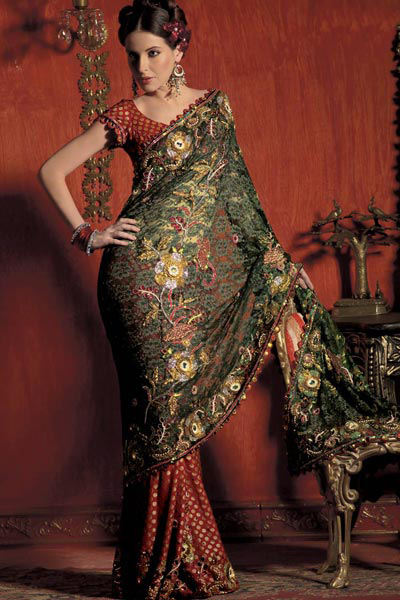 The huge bridal Saree collection made available in the market gives the