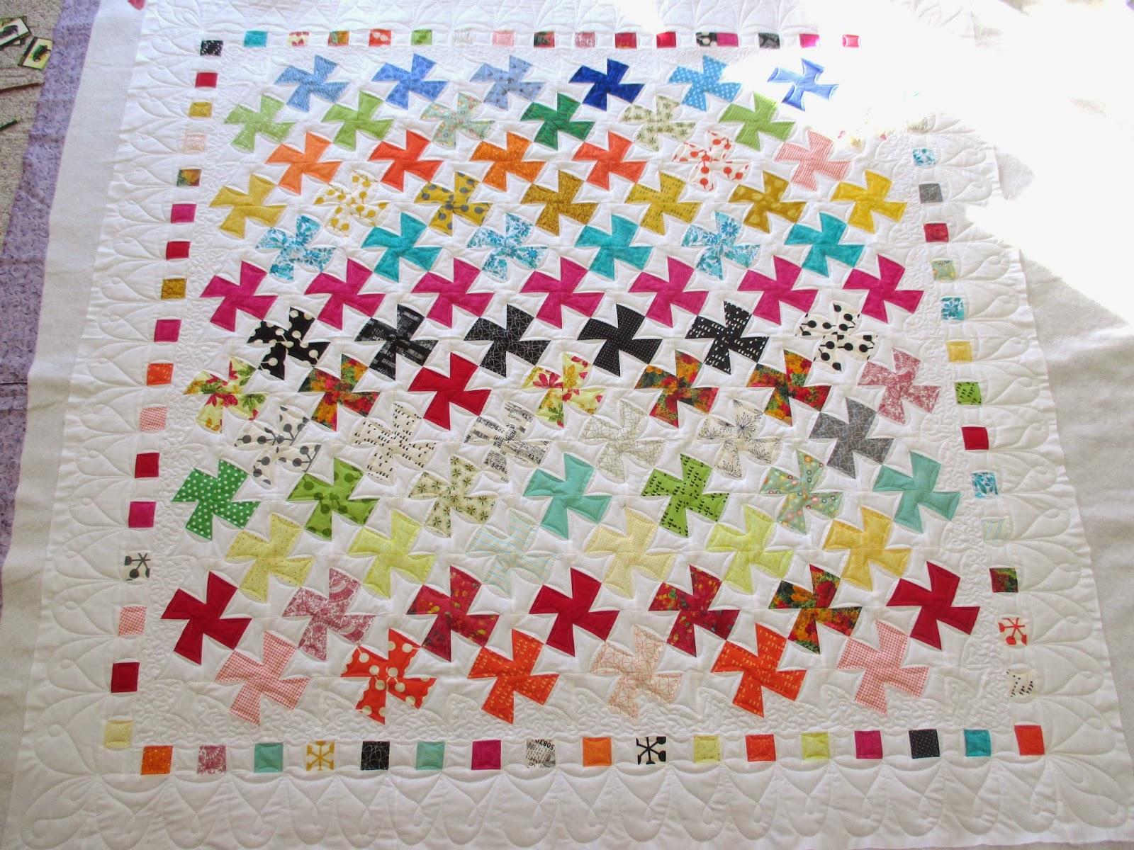 Down To Sew: Twister Rainbow Quilt : twister quilt patterns - Adamdwight.com