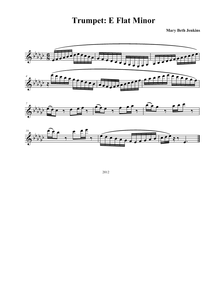 how to play a minor on trumpet