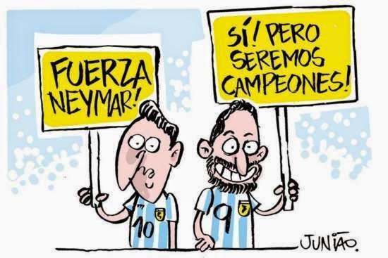 Argentina, Neymar, Cartoon, Junião