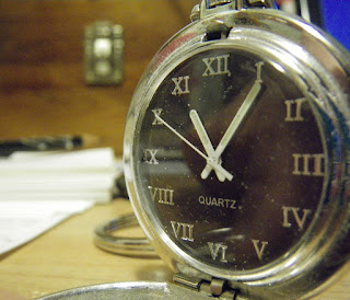 Image of my pocket watch at 11:05
