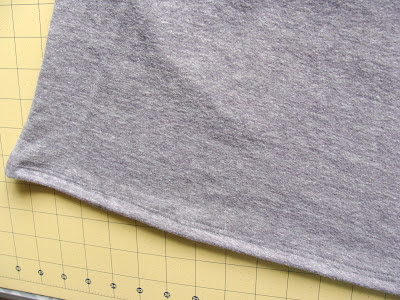sew parallel seam stitches on t-shirt hem