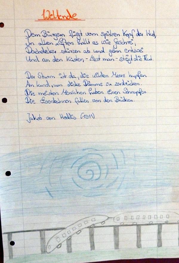 Gedichte schule klasse 8