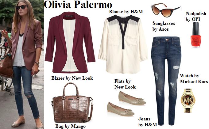 olivia palermo, style, blazer