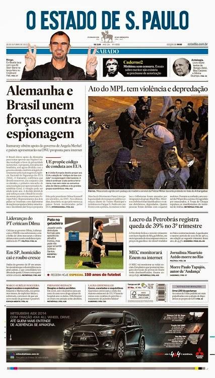 """""""Alemanha e Brasil unem forças contra espionagem..."""""""