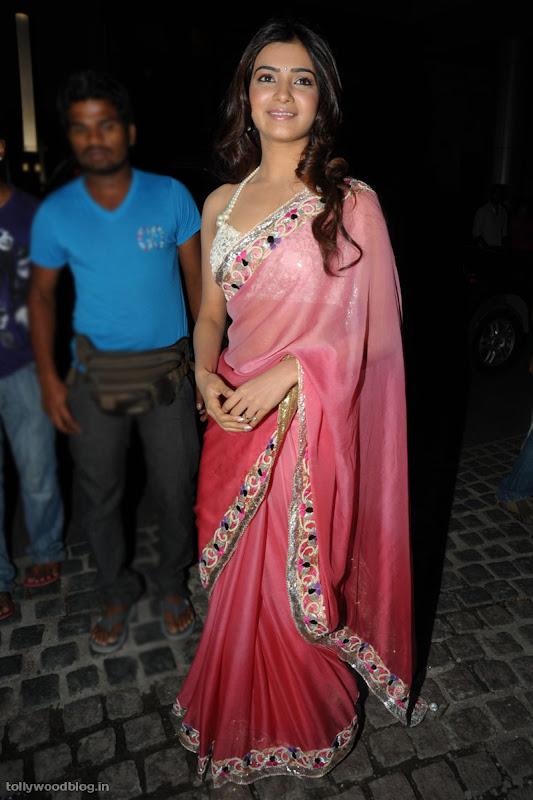Samantha Ruth Prabhu latest new hot looking saree photos stills at Idea filmfare south  hot images