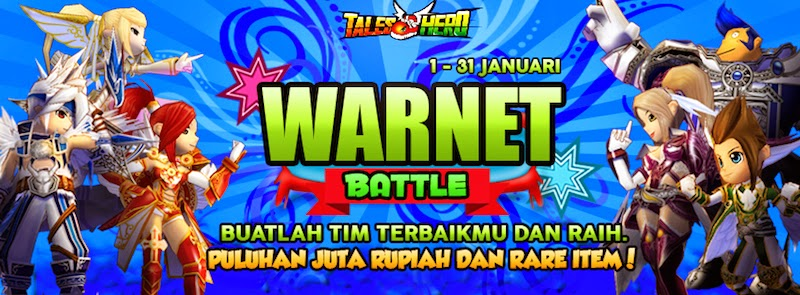 Jadwal Tales Hero Warnet Battle
