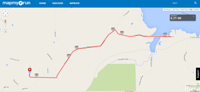 Map of Butler Winery 10k race