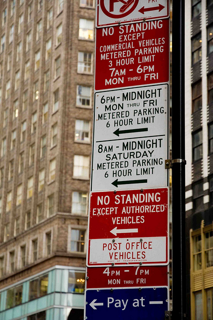 New York parking signs wordy