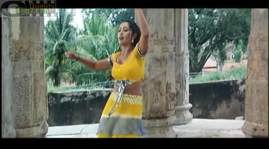 Navya Nair hot navel show song with Vineeth from Tamil movie ...