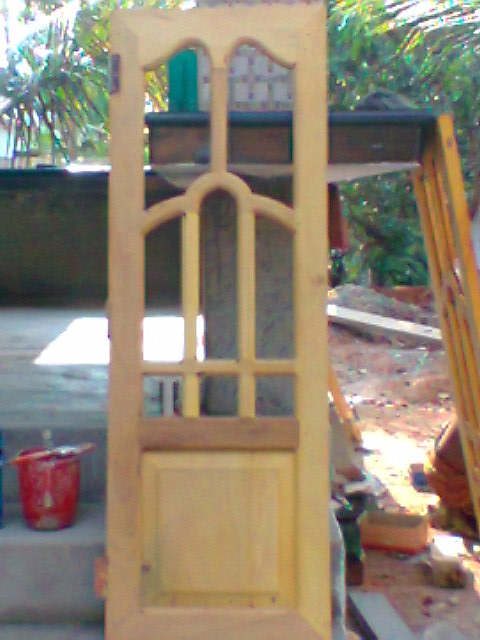 Carpenter work ideas and kerala style wooden decor wooden for Window frame design
